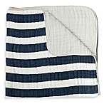 Little Unicorn Stripe Cotton Muslin Quilt in Navy