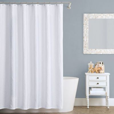 Lamont HomeTM Seaspray 72 Inch X 84 Cotton Shower Curtain