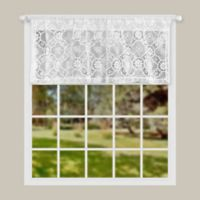 Today's Curtain Richard Macram 20-Inch Window Valance in White