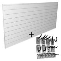 Proslat Basic Bundle 8-Foot x 4-Foot & 20-Piece Hook Kit in White