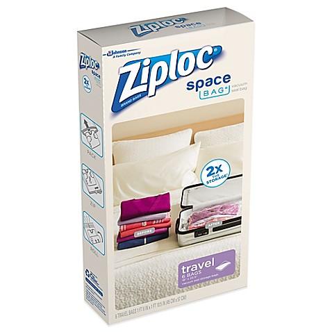 Ziploc 174 Space Bag 174 6 Pack Travel Bag Bed Bath Amp Beyond
