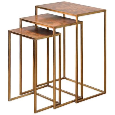 Uttermost Osmund Metal Nesting Accent Tables  Set of 3. Buy Small Accent Tables from Bed Bath   Beyond