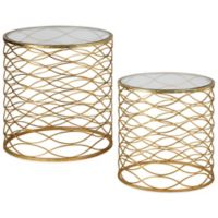 Uttermost Zoa Gold Accent Tables (Set of 2)
