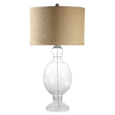 St. Charles Table Lamp with Drum Shade in Burlap