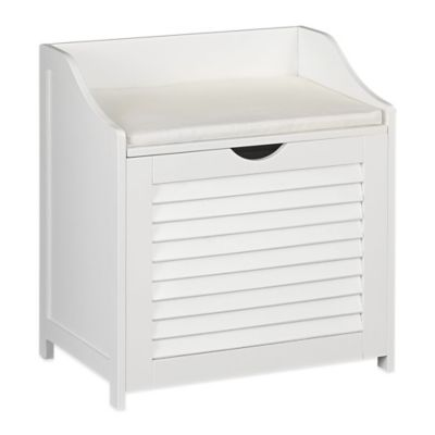 Delicieux Household Essentials® Single Load Cabinet Hamper Seat