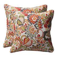 Zoe Square Throw Pillow (Set of 2)