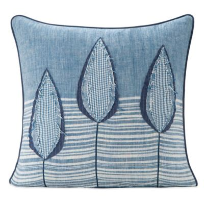 SPUN™ By Welspun Lotus Handcrafted Throw Pillow In Sky Blue