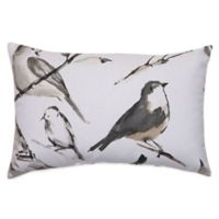 Bird Watcher Oblong Throw Pillow