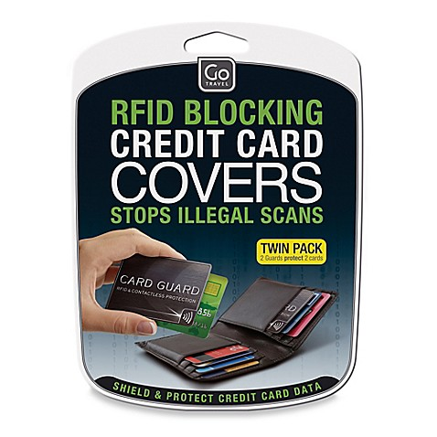 Design Go 2 Pack Rfid Blocking Credit Card Covers Bed