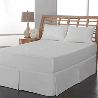 therapedic peva leaf waterproof twin mattress pad in white