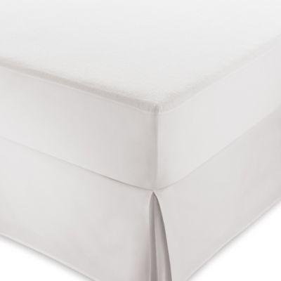 Serta Sleeptogo Everyday California King Waterproof Terry Mattress Protector In White