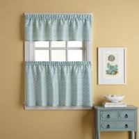 Casablanca 24-Inch Window Curtain Tier Pair in Blue