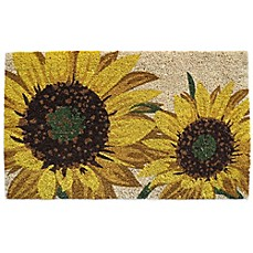 Nourison Sunflower 18 Inch X 30 Inch Coir Door Mat Bed