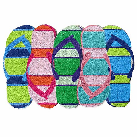 Flip Flop Shaped Door Mat In Multi Bed Bath Amp Beyond