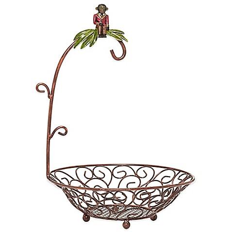 Bombay® Monkey Fruit Basket with Banana Hanger - Bed Bath & Beyond