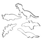 5-Piece Dinosaur Cookie Cutter Set