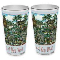 pubsOf. Key West, Florida Pint Glasses (Set of 2)