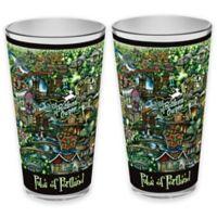 pubsOf. Portland, Oregon Pint Glasses (Set of 2)