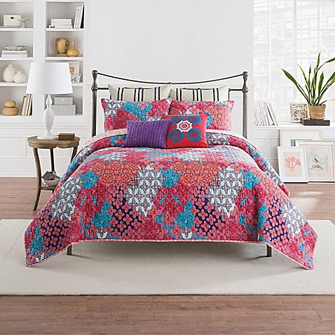 Anthology Minka Reversible Quilt In Fuchsia Bed Bath Beyond