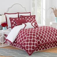 Jill Rosenwald Hampton Link European Pillow Sham in Garnet