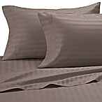 Damask Stripe 500-Thread-Count Cotton Full XL Sheet Set in Canvas