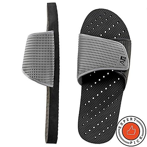 Men S Slide Aquaflops Shower Shoes In Grey Black