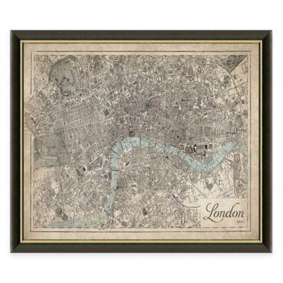 Framed Map Of London Wall Décor
