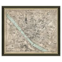 Framed Map of Florence, Italy Wall Décor
