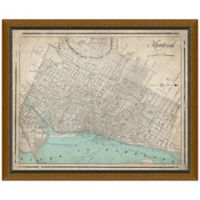 Framed Map of Montreal, Canada Wall Décor