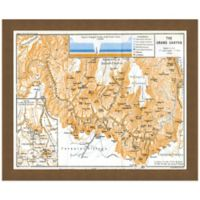 Framed Map of Grand Canyon Wall Décor