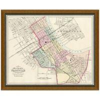 Framed Map of Nashville, TN Wall Décor