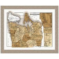 Framed Huntington, NY Map Wall Décor