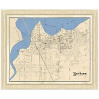 Framed Map of Red Bank, NJ Wall Décor