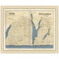 Framed Map of Sea Girt, NJ Wall Décor