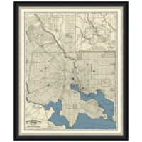 Framed Map of Baltimore, MD Wall Décor