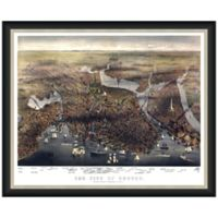 Framed Bird's Eye View of Boston Wall Décor in Color