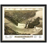 Framed Niagara Falls, NY Map Wall Décor