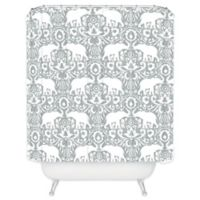 DENY Designs Elephant Damask Paloma Shower Curtain in Grey