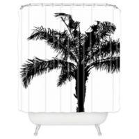 DENY Designs Deb Haugen Shower Curtain in Black and White