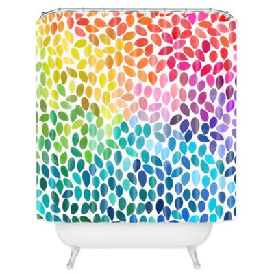 deny designs garima dhawan rain 11 shower curtain in blue - Colorful Shower Curtains