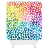 DENY Designs Garima Dhawan Rain 11 Shower Curtain in Blue