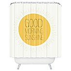 Deny Designs Allyson Johnson Morning Sunshine Shower Curtain in Yellow
