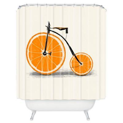 DENY Designs Florent Bodart Vitamin Shower Curtain In Orange  Orange Shower Curtain