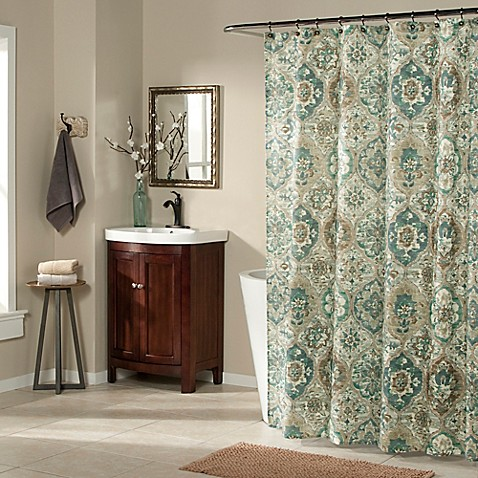 Ali Baba Shower Curtain In Teal
