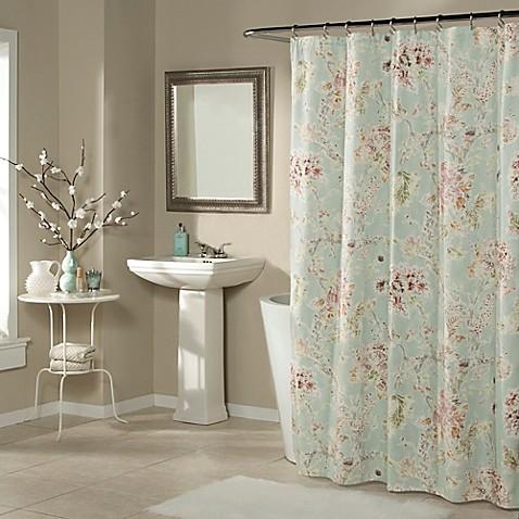 millie shower curtain in aqua bed bath beyond. Black Bedroom Furniture Sets. Home Design Ideas