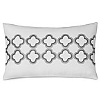 Jill Rosenwald Quatrefoil Oblong Throw Pillow in White/Grey