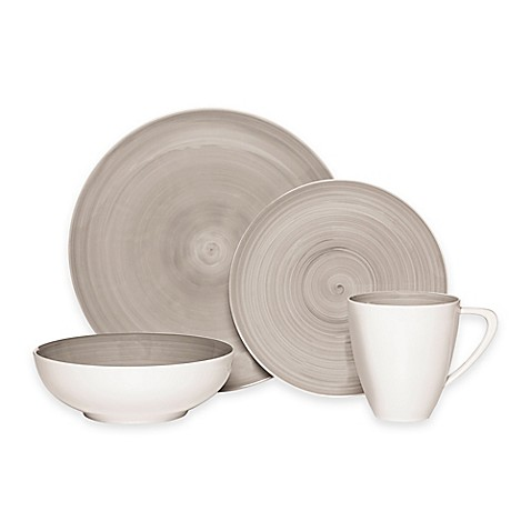 Mikasa 174 Savona 4 Piece Place Setting In Grey Bed Bath