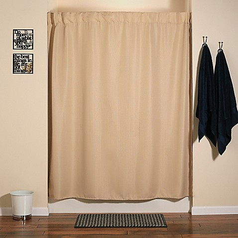 Buy Infinity Shower Curtain And Liner Set In Sandbar Brown From Bed Bath Amp