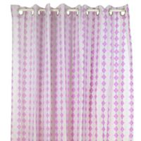 Pam Grace Creations Lavender Lovebirds Shower Curtain