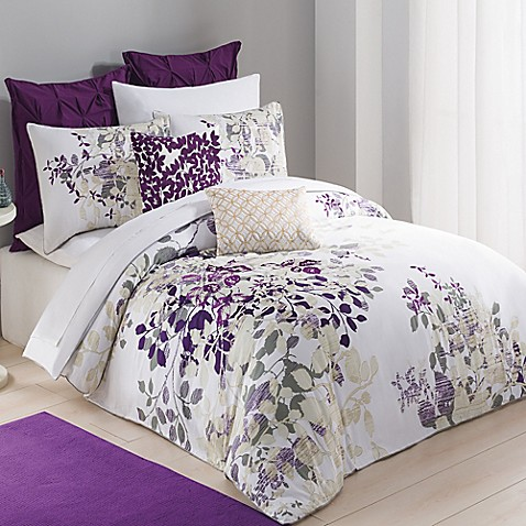 Kas Winchester Duvet Cover in Purple. CONNEXITY. Breathe new life into your bedroom with the exquisite Kas Winchester Duvet Cover. With gorgeous floral leaf embroidery in tones of grey, tan, plum and magenta, the stylish bedding is an eye-catching addition to any room's décor.